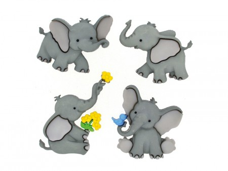 Buttons – Tiny Trunks  Baby elefant