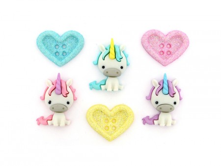 Buttons – Unicorn Love